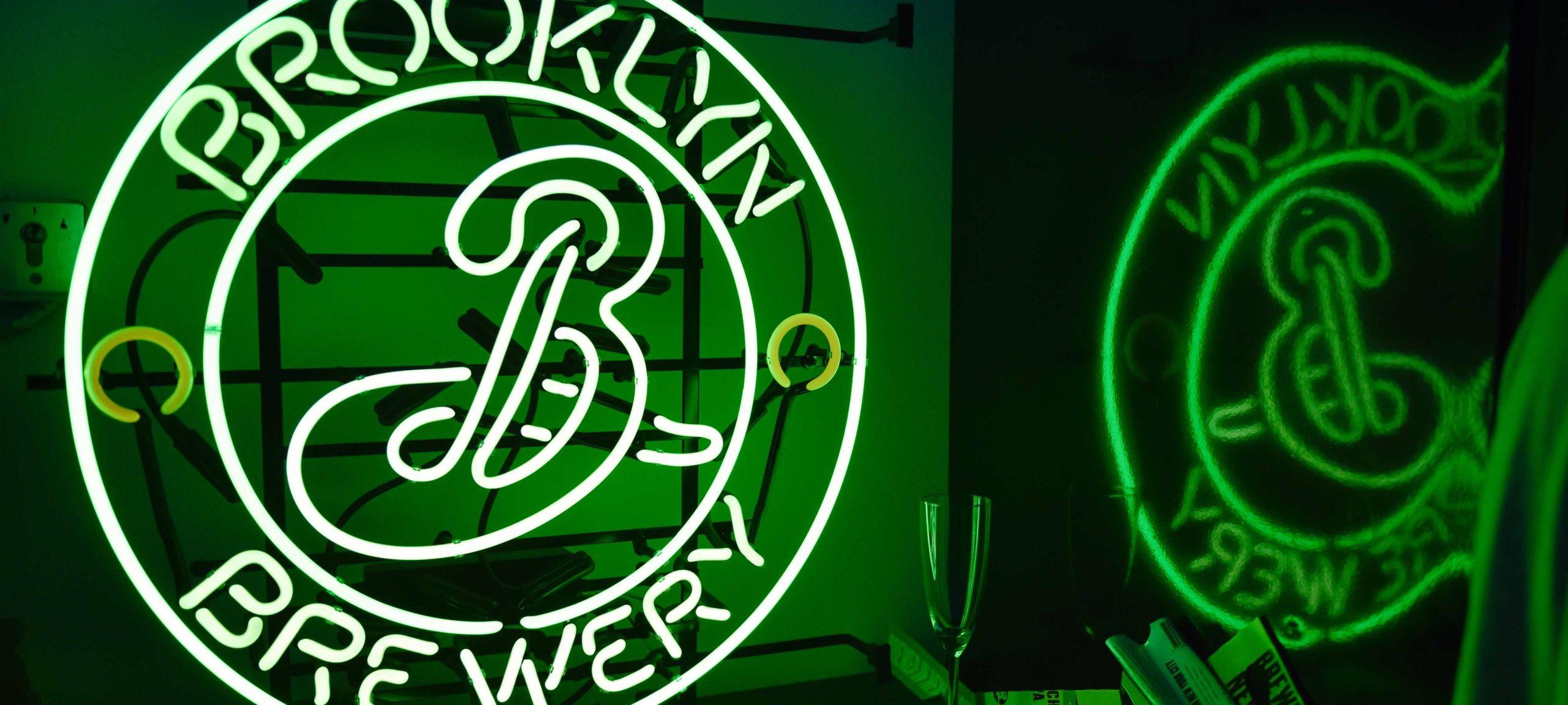Leuchtreklame Brooklyn Brewery