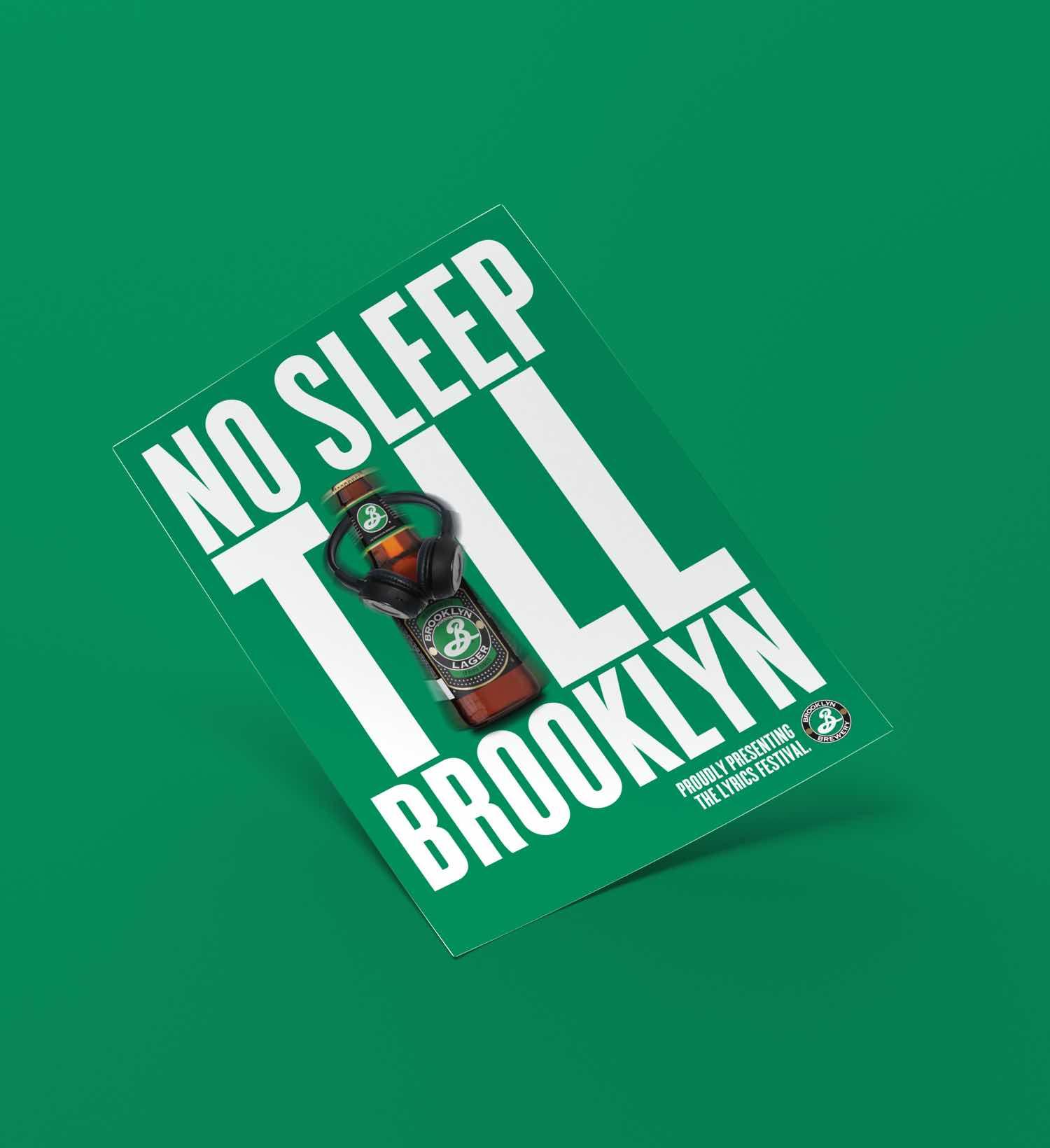 Brooklyn Flyer mit Headline «No sleep till Brooklyn»
