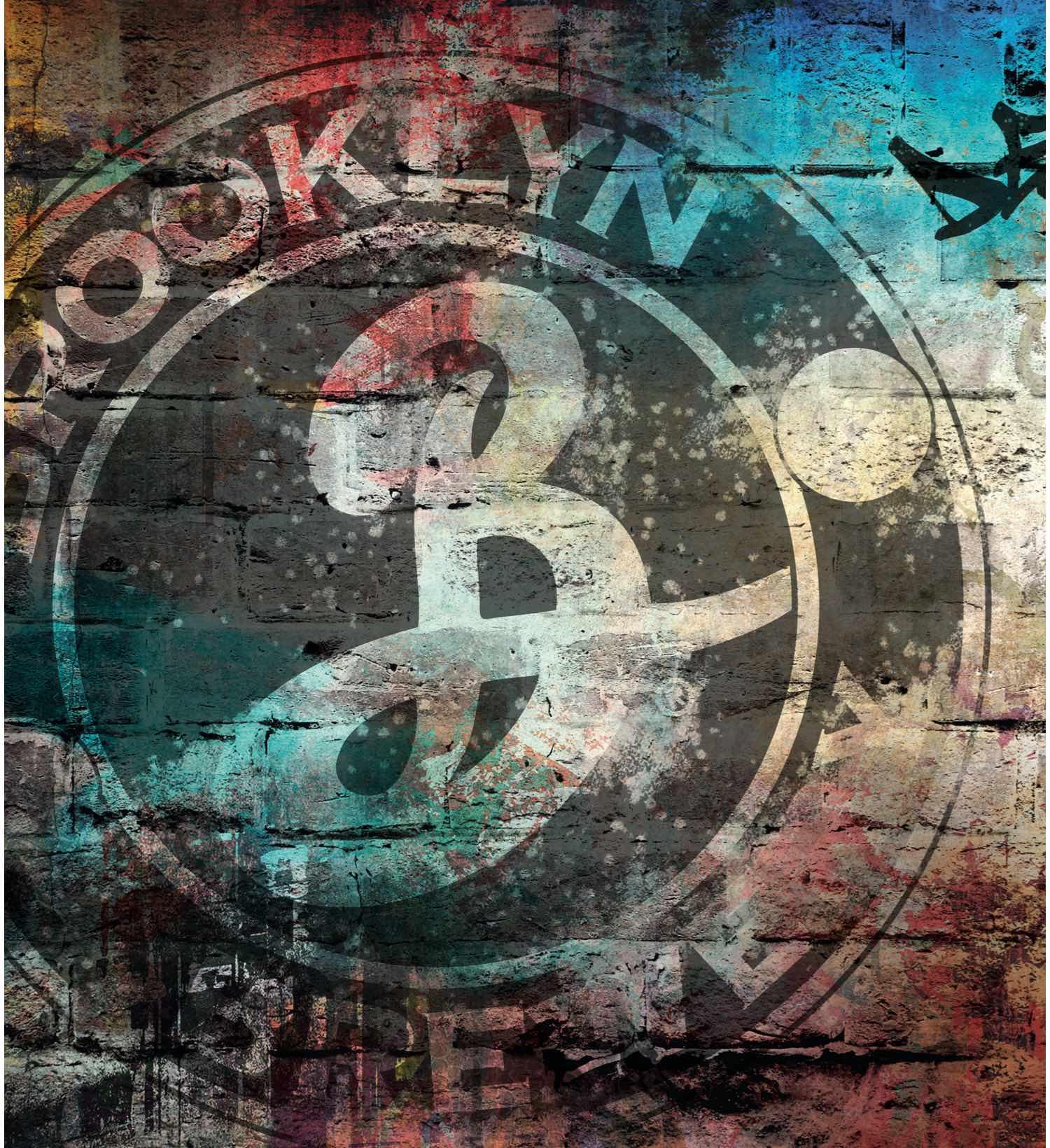 Brooklyn-Logo auf einer Steinwand
