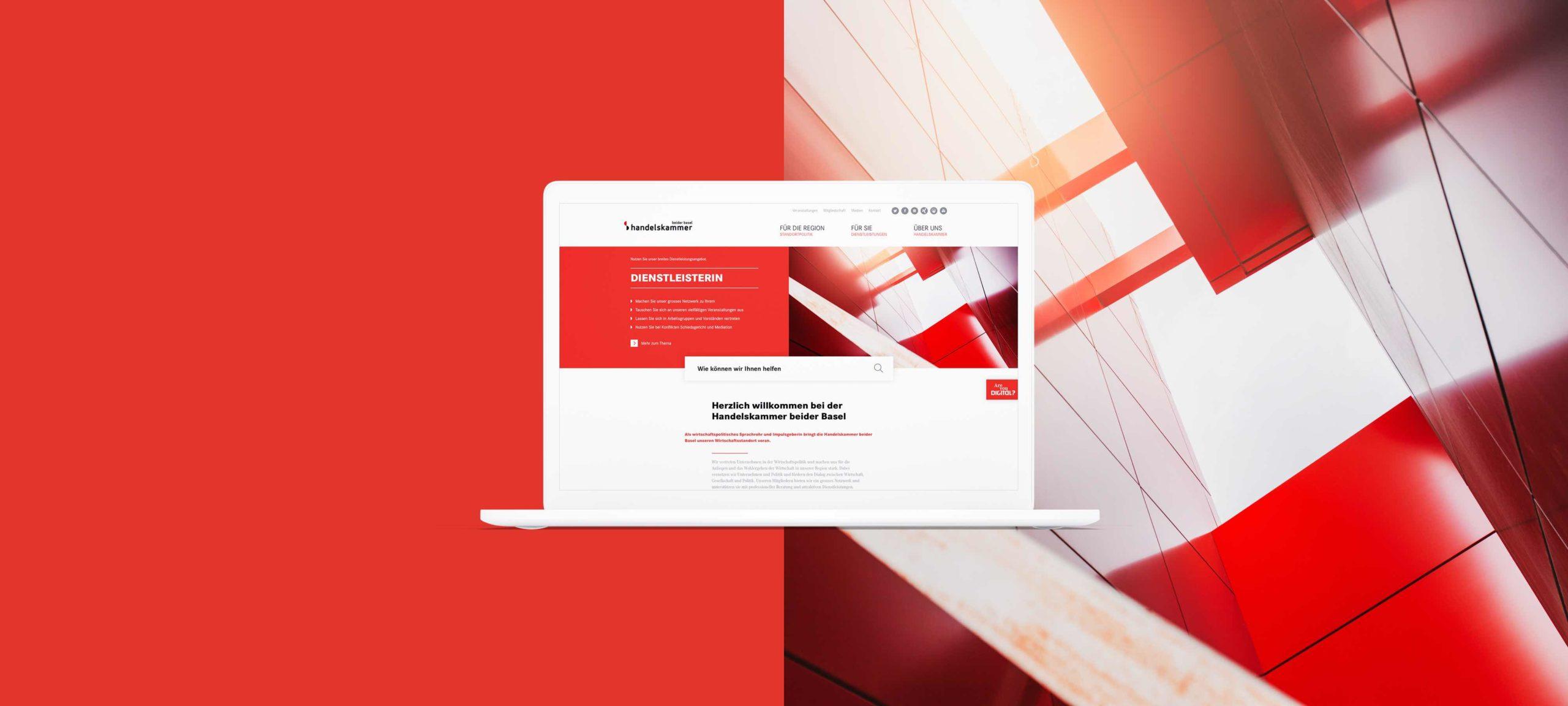 HKBB-Website visualisiert auf einem Laptop