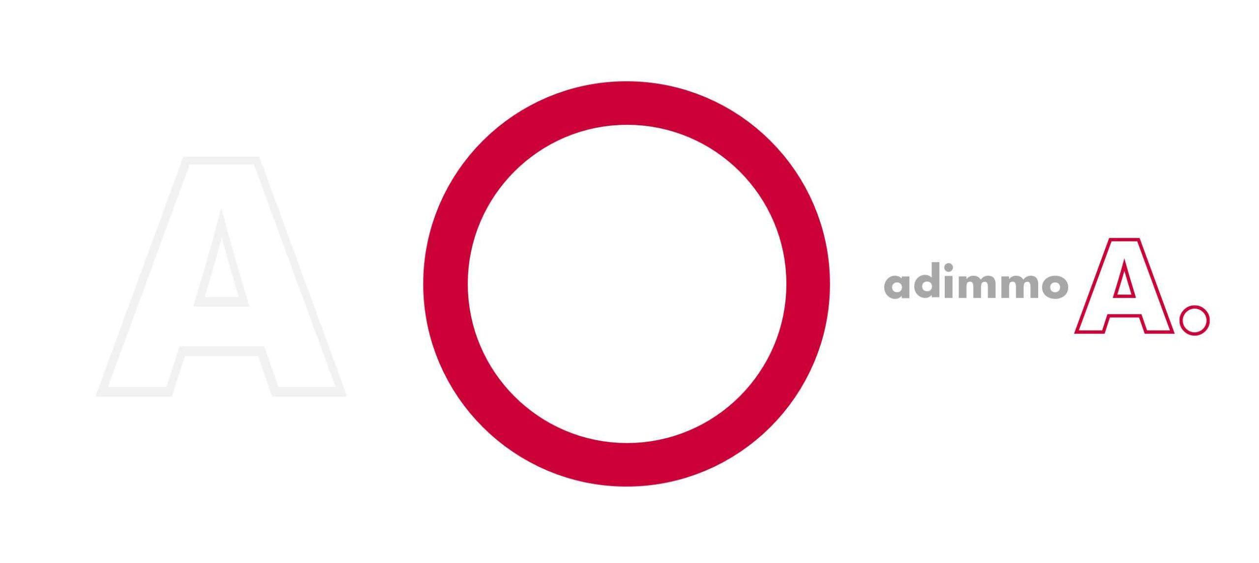Adimmo Logo und Kreis-Symbol